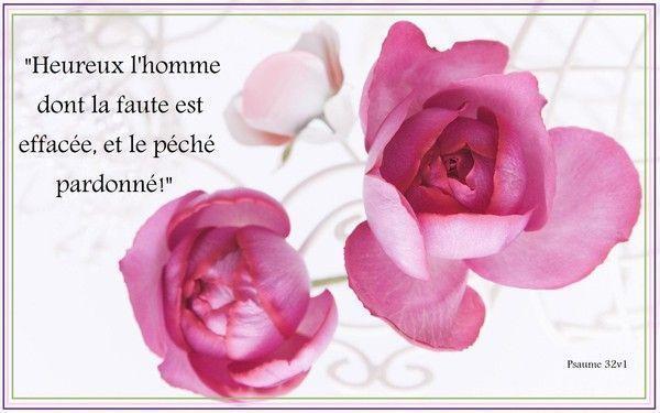 psaume 32v1 tableau verset biblique - Verset Biblique Mariage